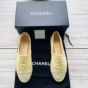 Chanel Yellow Espadrilles